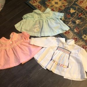 Vintage 0-3m baby dress baby fair 60's 70's